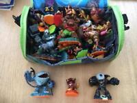 Skylanders Figures & Storage Bags - over 30 items!!