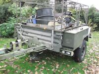 SANKEY EX MOD WIDE NATO GKN TRAILER EXPEDITION CAMPING TRAILER LOTS OF LOCKERS EX CATERING £595