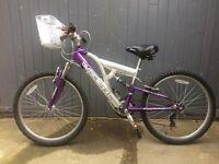 Girl's Klondyke Full Suspension Bike. 24 inch.