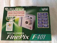 Fuji Film FinePix F Series F401 2.1 MP Digital Camera - Metallic silver