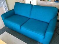 DFS 3 seater teal sofa, like new!