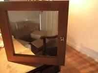 Wooden bathroom cabinet with mirror