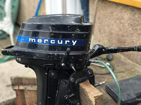 Mercury 4.5 hp outboard boat engine