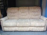 Lazboy 3 seater sofa and chair