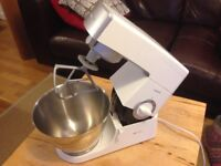 Kenwood Classic Chef - white processor/mixer with stainless steel bowl