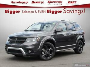 2018 Dodge Journey Crossroad|AWD|BTOOTH|DVD|HTD LTHR|NAV|SROOF