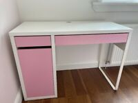 FREE Pink and white IKEA Micke desk - collection only