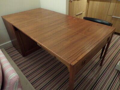 DANISH TEAK MID-CENTURY VINTAGE METAMORPHIC TABLE/CUPBOARD/DESK