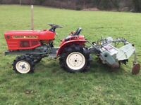 Yanmar 1401D 4WD Compact Tractor with Rotavator, 500 hours, Excellent Condition