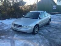 99/V AUDI A4 1.8T SPORT 4DR PART EX TO CLEAR SPARES OR REPAIRS £299