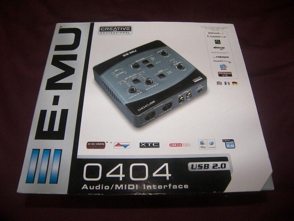 E-MU / EMU 0404 USB 2 0 Audio / MIDI Interface for PC and Mac + Software  |  in Portsmouth, Hampshire | Gumtree