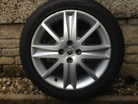 """Renault 17"""" Alloy and Tyre"""