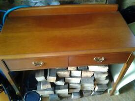 STAG MAHOGANY SIDE TABLE WITH 2 DRAWERS