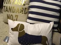 3 brand new cushions set