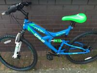 Blue and green BMX boys/men's bike like new