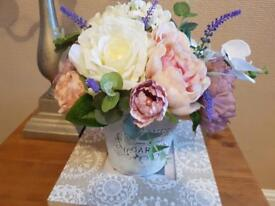 Provence silk flowers bouquet