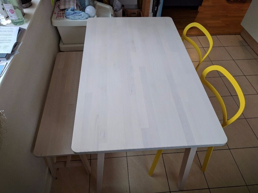 Ikea NORRKER dining table chairs and bench perfect condition in