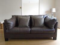 John Lewis Ikon Leather 2 Seater Sofa