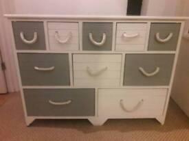Beach hut style 10 drawer unit