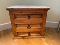 Mexican Pine 3 Drawer Chest