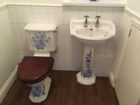 Imperial bathroom suite with accessories.