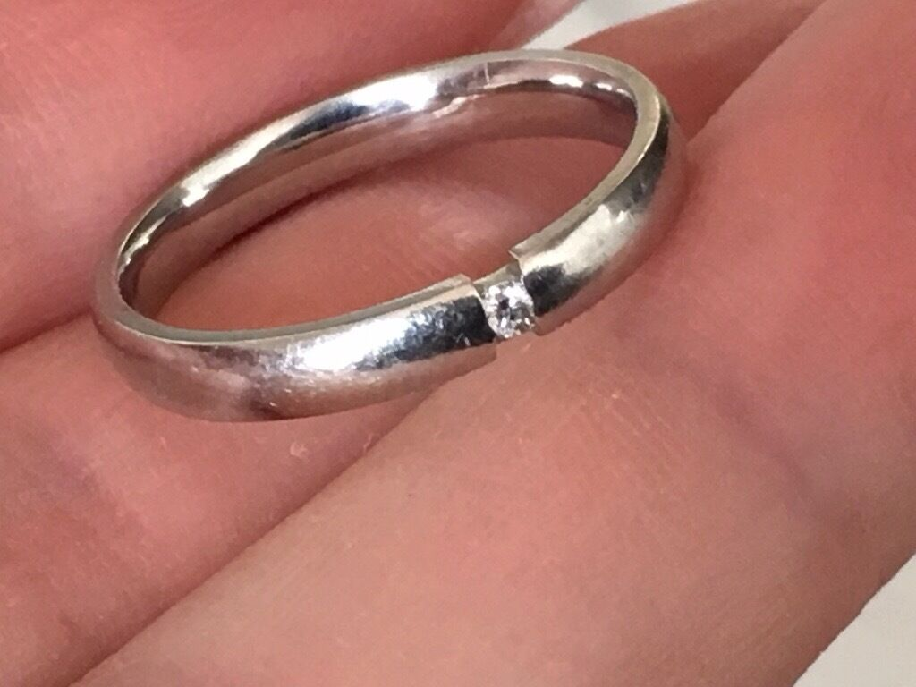 Platinum 950 diamond ring
