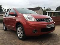 2008 NISSAN NOTE ACENTA R 12 MONTHS MOT,FULL SERVICE HISTORY