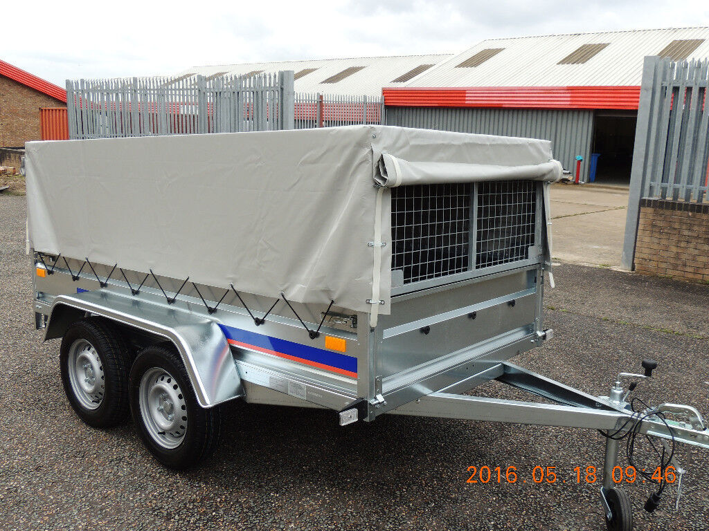 TWIN AXLE TRAILER/ CAGE/ MESH TRAILERS 8,6FT X 4,4FT - 750KG + FULL COVER