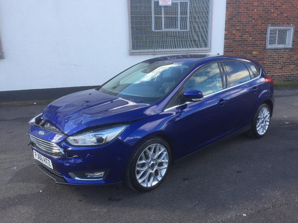 2016 66 ford focus titanium x 1 5 tdci blue light damaged salvage repairable in walthamstow. Black Bedroom Furniture Sets. Home Design Ideas