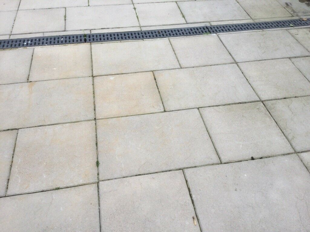 Textured grey flagstones