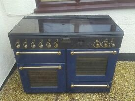 Rangemaster 110 Gas Classic Blue with glass lid