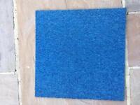 100 x Premium Blue Carpet Tiles £90