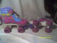 BARBIE ROLLER BOOTS as PICS with PADS U.K. J 13 .+++ EUR 32 . +++++