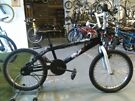 BOYS/GIRLS JESTER BMX BIKE 20 INCH WHEELS BLACK/WHITE GOOD CONDITION