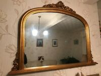 Large Gold Frame Wall Mirror