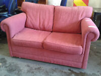 Red pull out sofa bed
