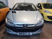 PEUGEOT 206 CC BLUE BO51 FJC SOLD AS SPARES OR REPAIRS