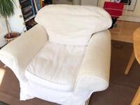 White Ektorp armchair