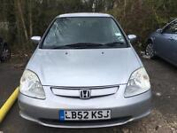 Honda Civic 2003 1.6 drives excellent brand new clutch 1 year MOT