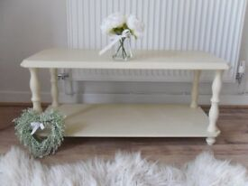 ** LOVELY COFFEE TABLE - RESTORED IN SHABBY CHIC STYLE **