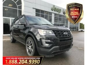 2016 Ford Explorer Sport| 4WD| Sunroof| Leather| CD Player