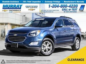 2016 Chevrolet Equinox LT *All Wheel Drive, Heated Seats, OnStar