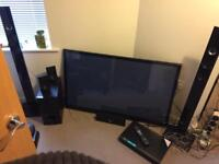 """LG 50"""" 3D Television & Blu Ray Disc Home Theatre System (Offers Considered)"""