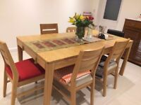 Oakwood Dining Table With 4 Chairs