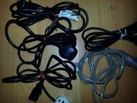 3 Pin UK Kettle PC Plug m-f leads for Projector PS3 KettleTV PC & 3pin female to male POWER SUPPLY
