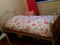 Single bed frames and mattress