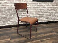 Vintage Metal Framed School Chair Circa 1950s