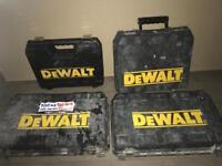 Dewalt drill cases all empty