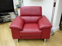 Virtually new (tags still on), barely used Luxurious Italian Leather Electric Recliner Chair (claret