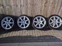 "18"" Honda Type R FN2 Alloys + Good Tyres"